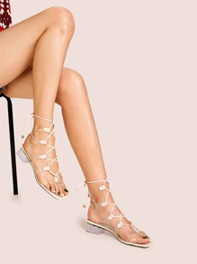 White Boho Sandals, size features are:Bust: ,Length: ,Sleeve Length: