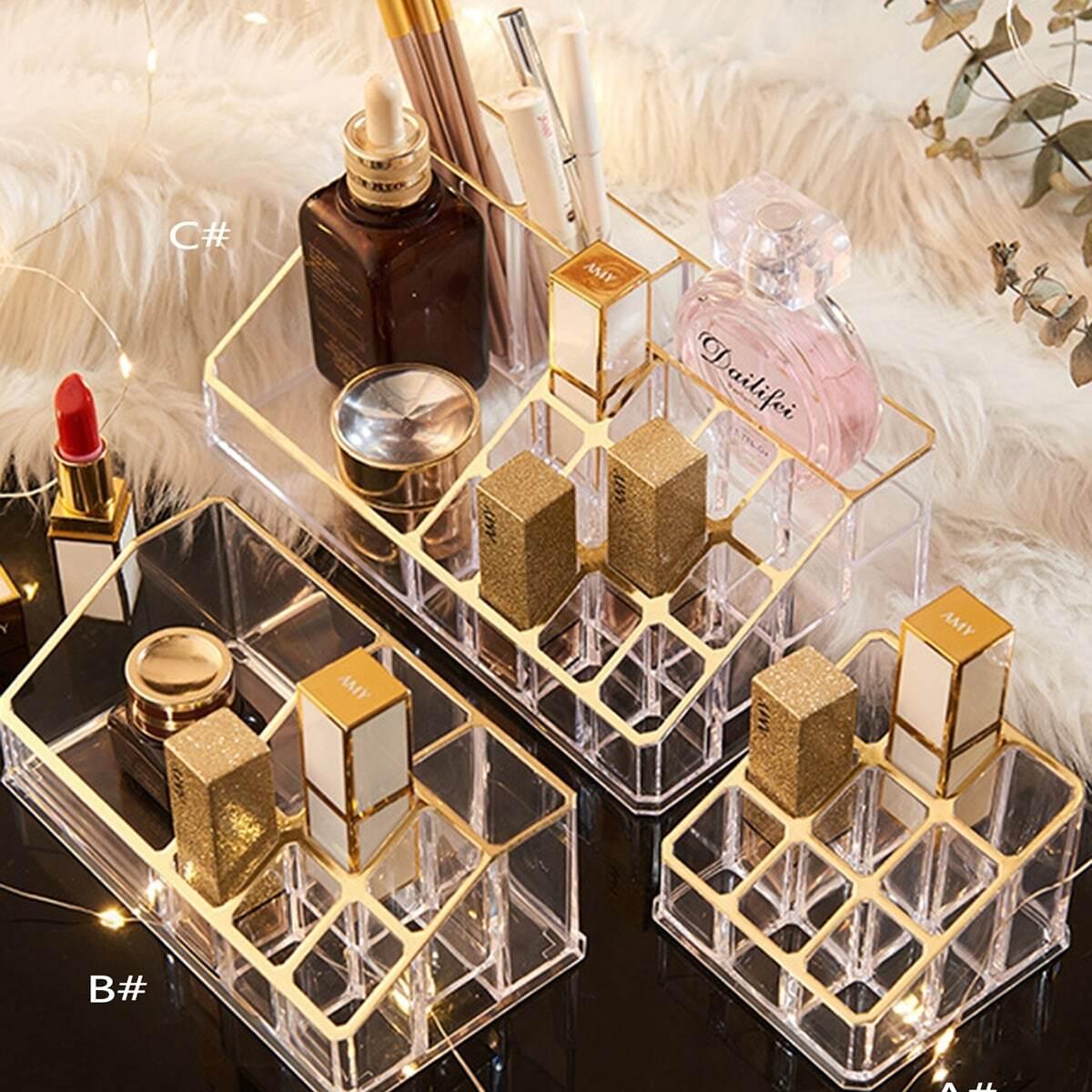 Transparante Multi-compartiment Cosmetische opbergdoos 1pc