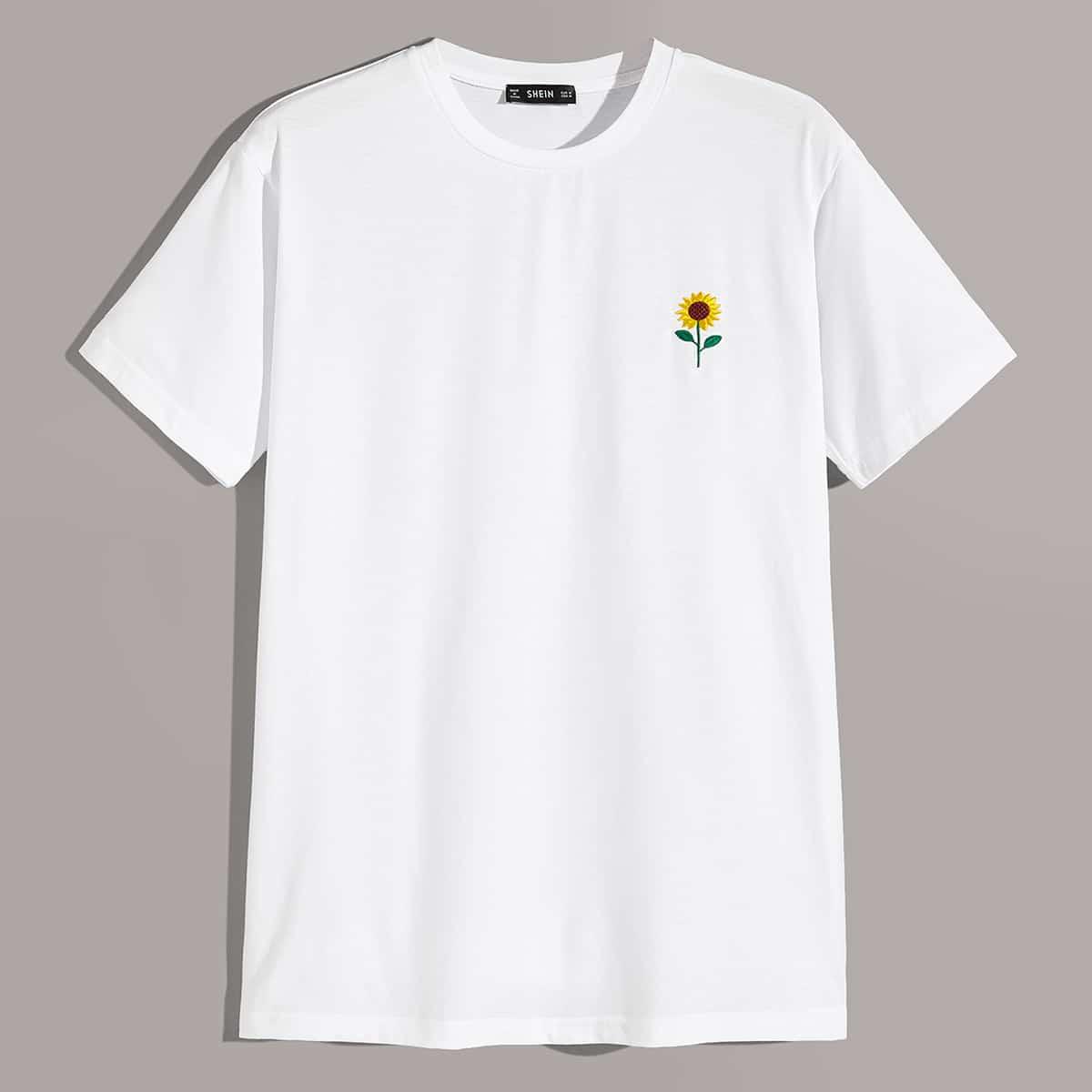 Wit Casual Bloemen Shirts mannen