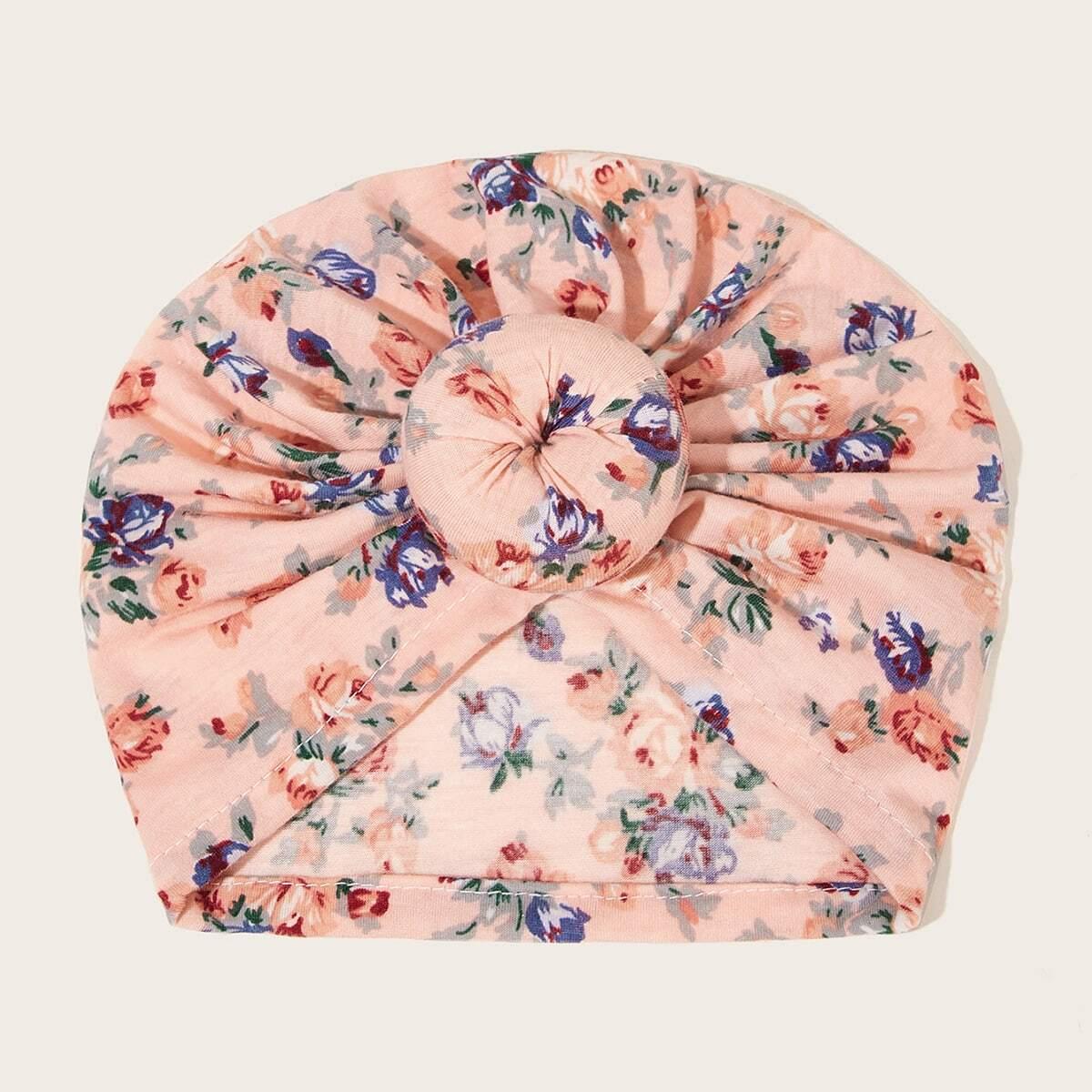 Детская шапка с цветочным узором от SHEIN