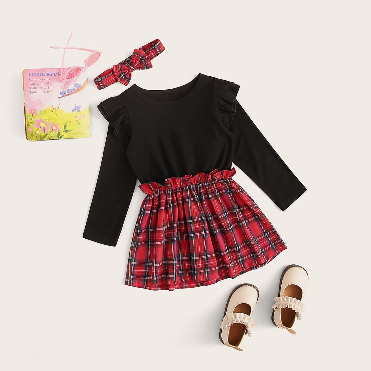 SHEIN / Kleinkind Mädchen Kleid mit Falten