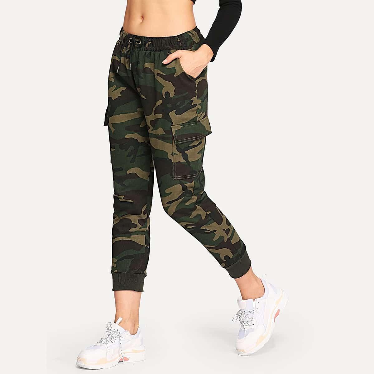 Veel kleurig Casual Camouflage jeans Koord