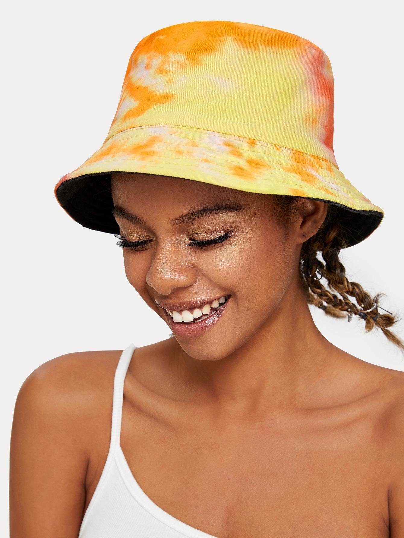 Фото - Разноцветный ковш шляпа от SheIn цвет жёлтый
