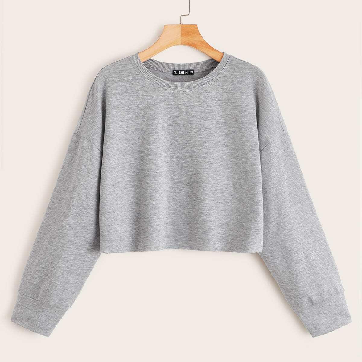 Укороченный Пуловер С Длинным Рукавом