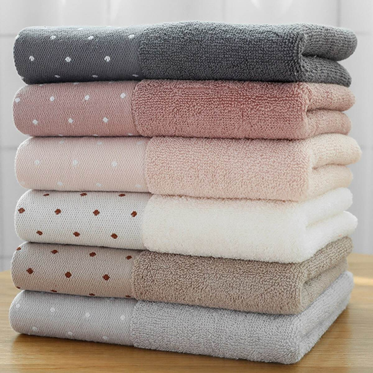 Dot Print absorberende handdoek 1pc