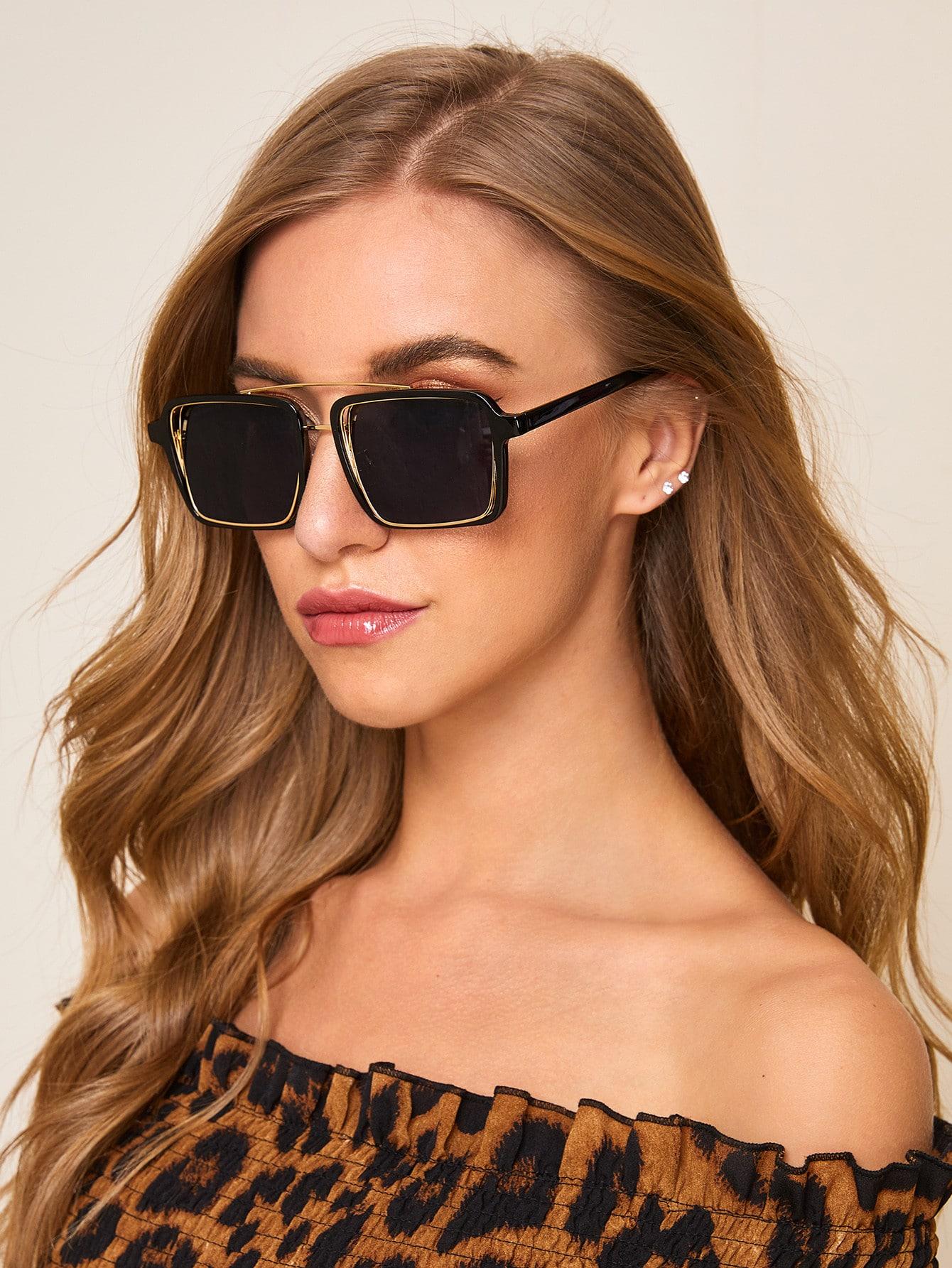 Фото - Солнцезащитные очки от SheIn цвет черные