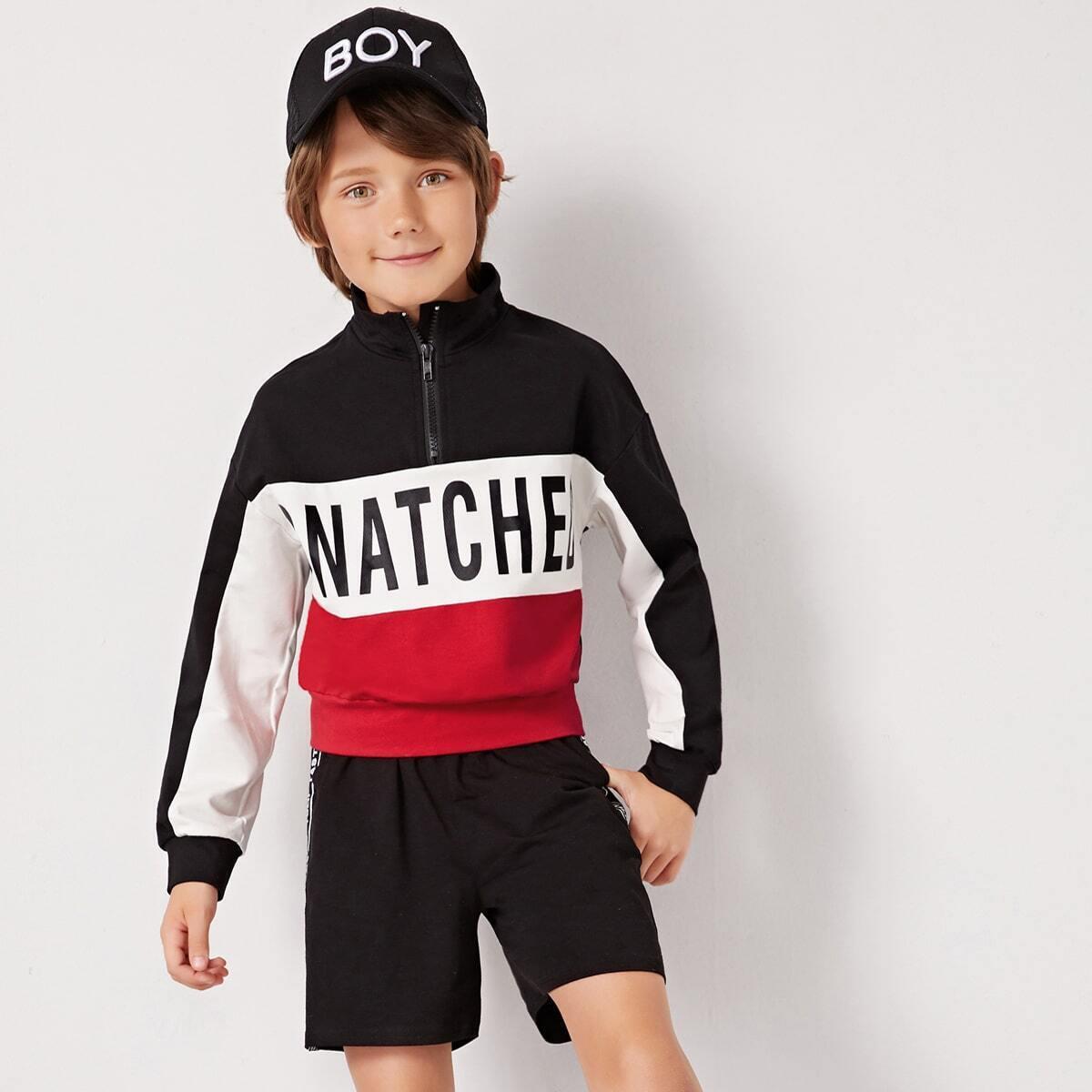 Veel kleurig Sporten Tekst Jongens swaeatshirts Rits