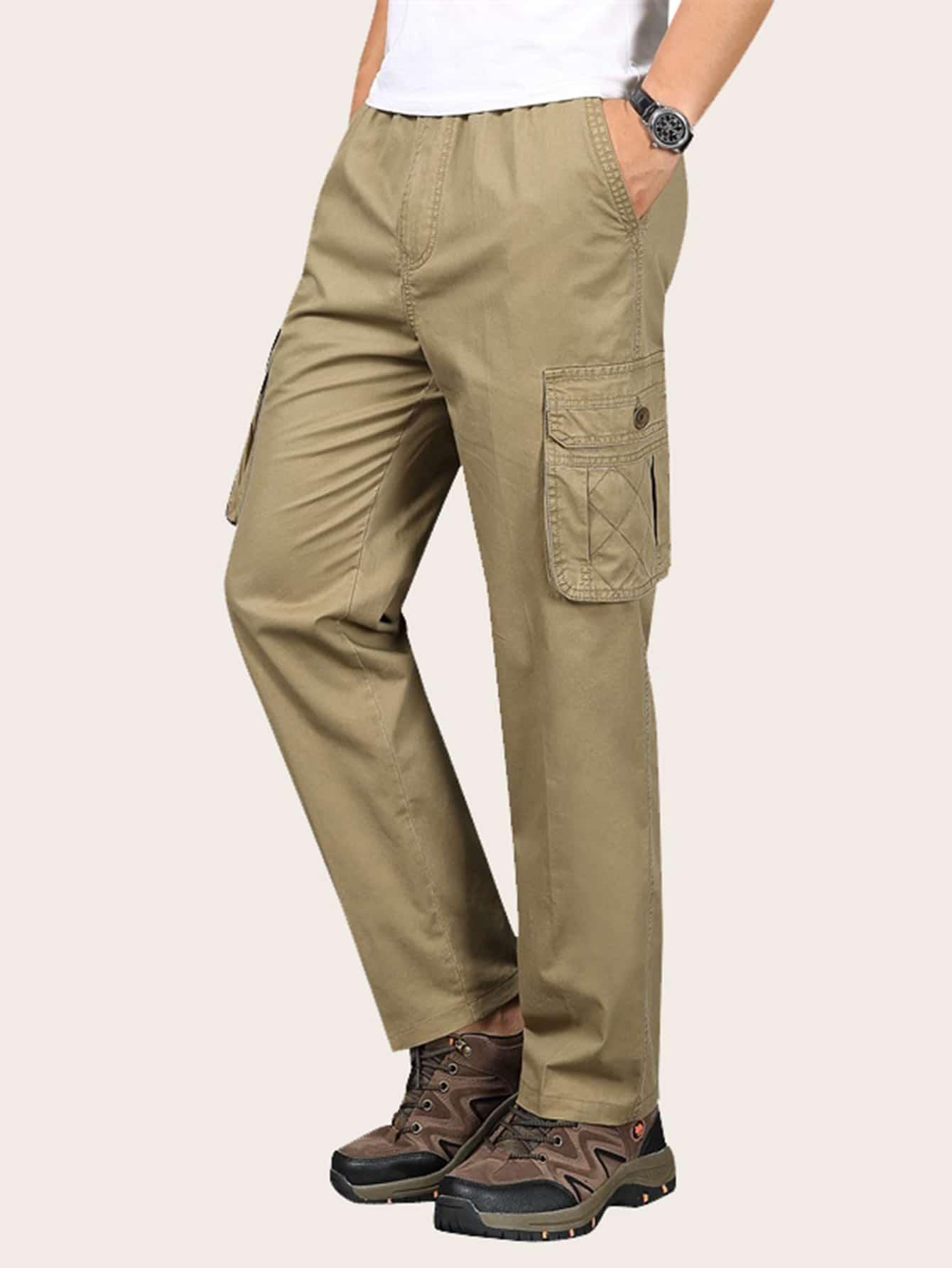 Фото - Мужские брюки-карго с карманом от SheIn цвета хаки