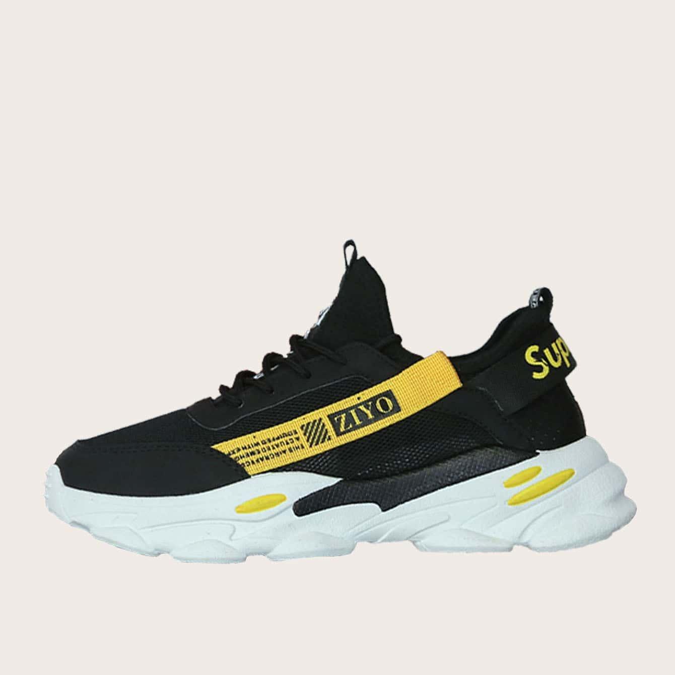Veel kleurig Comfortabel Kant Tekst Heren sneakers