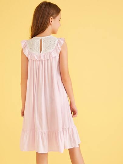 Фото 6 - Однотонное вязаное платье с халтером от SheIn цвет розовые