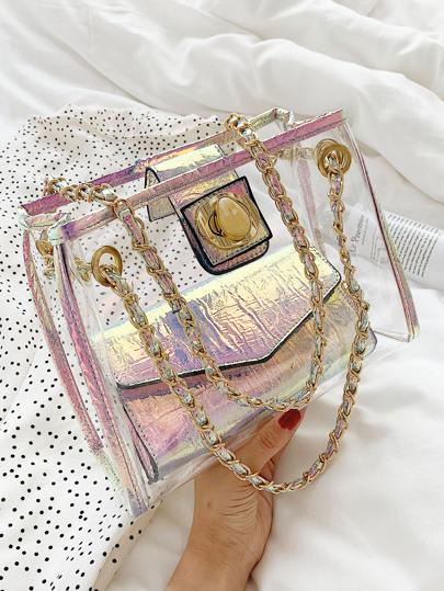 Фото 3 - Цветахаки Одноцветный Притягательный стиль Платья от SheIn цвет цветахаки