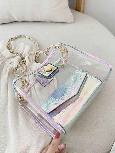 Фото 4 - Цветахаки Одноцветный Притягательный стиль Платья от SheIn цвет цветахаки