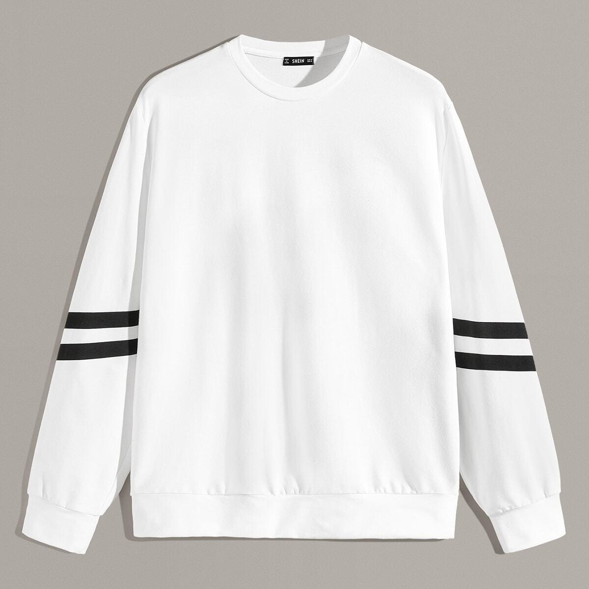 Wit Sporten Gestreept Sweatshirts voor heren