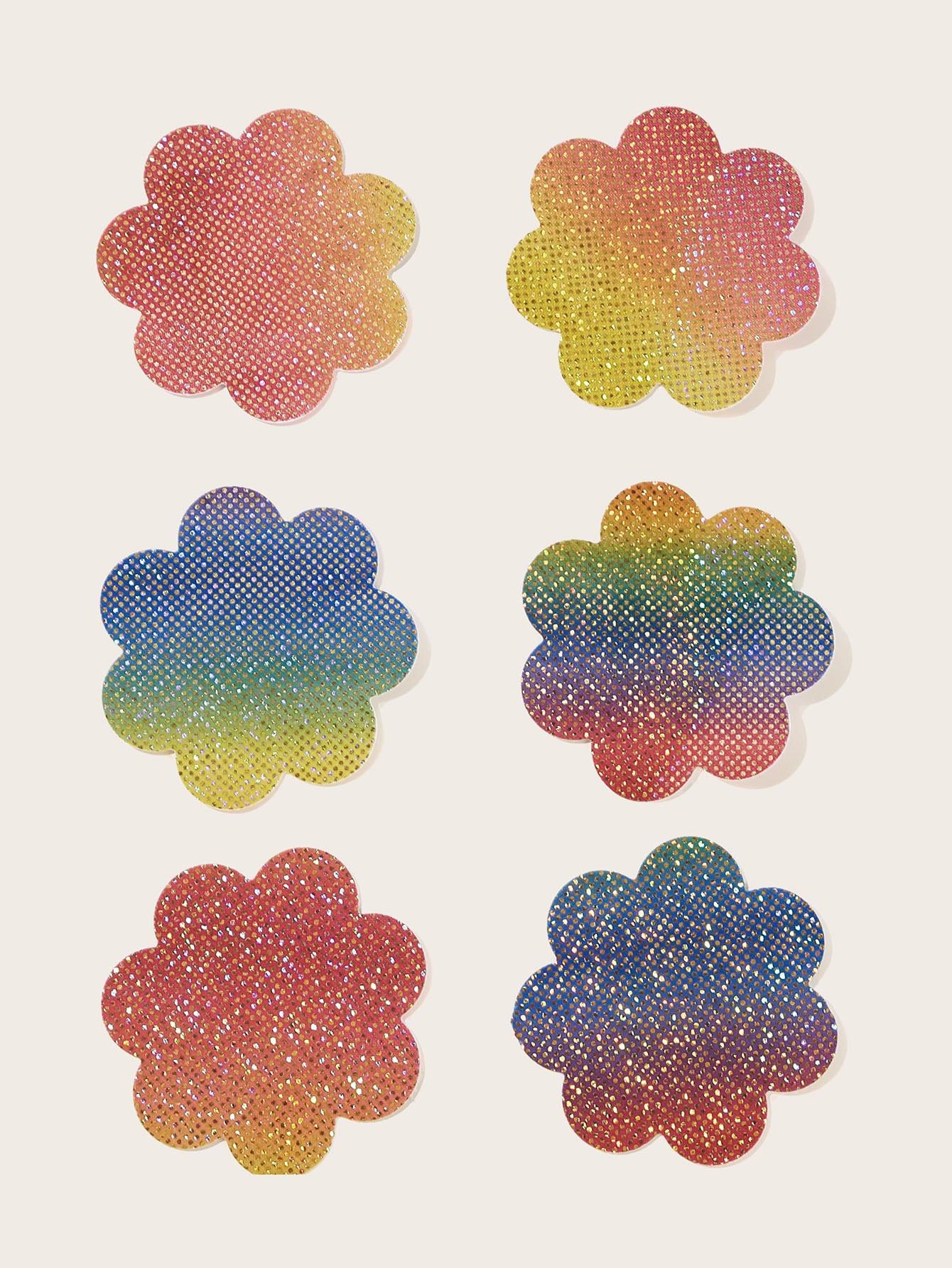 Цветочные бра для скрытия сосков размера плюс 3 пары
