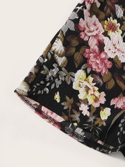 Фото 4 - Леггинсы с эластичной талией и сетчатыми вставками от SheIn черного цвета