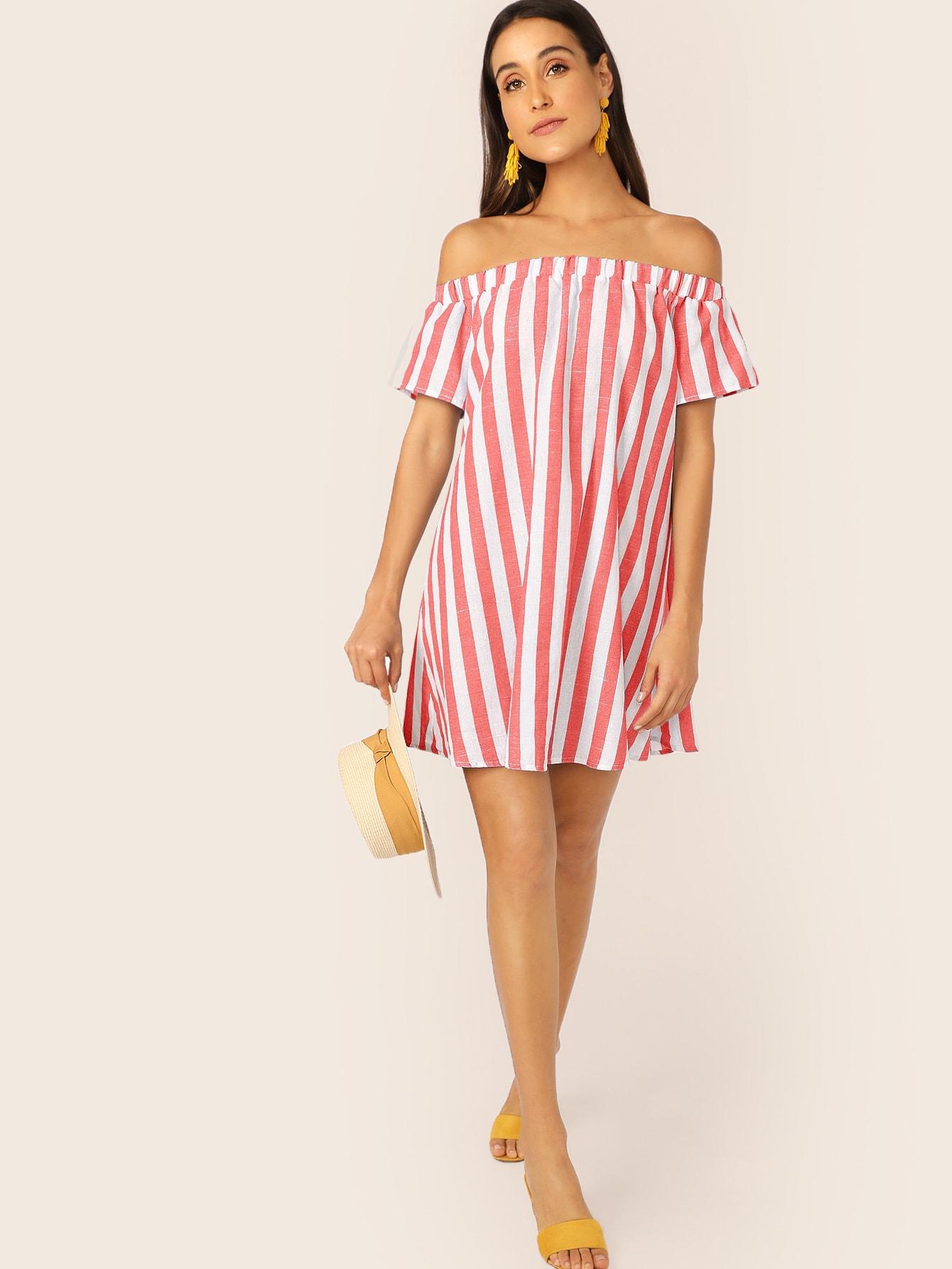 Фото - Стильная блуза в полоску от SheIn цвет многоцветный