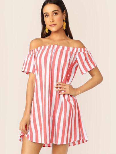 Фото 2 - Стильная блуза в полоску от SheIn цвет многоцветный