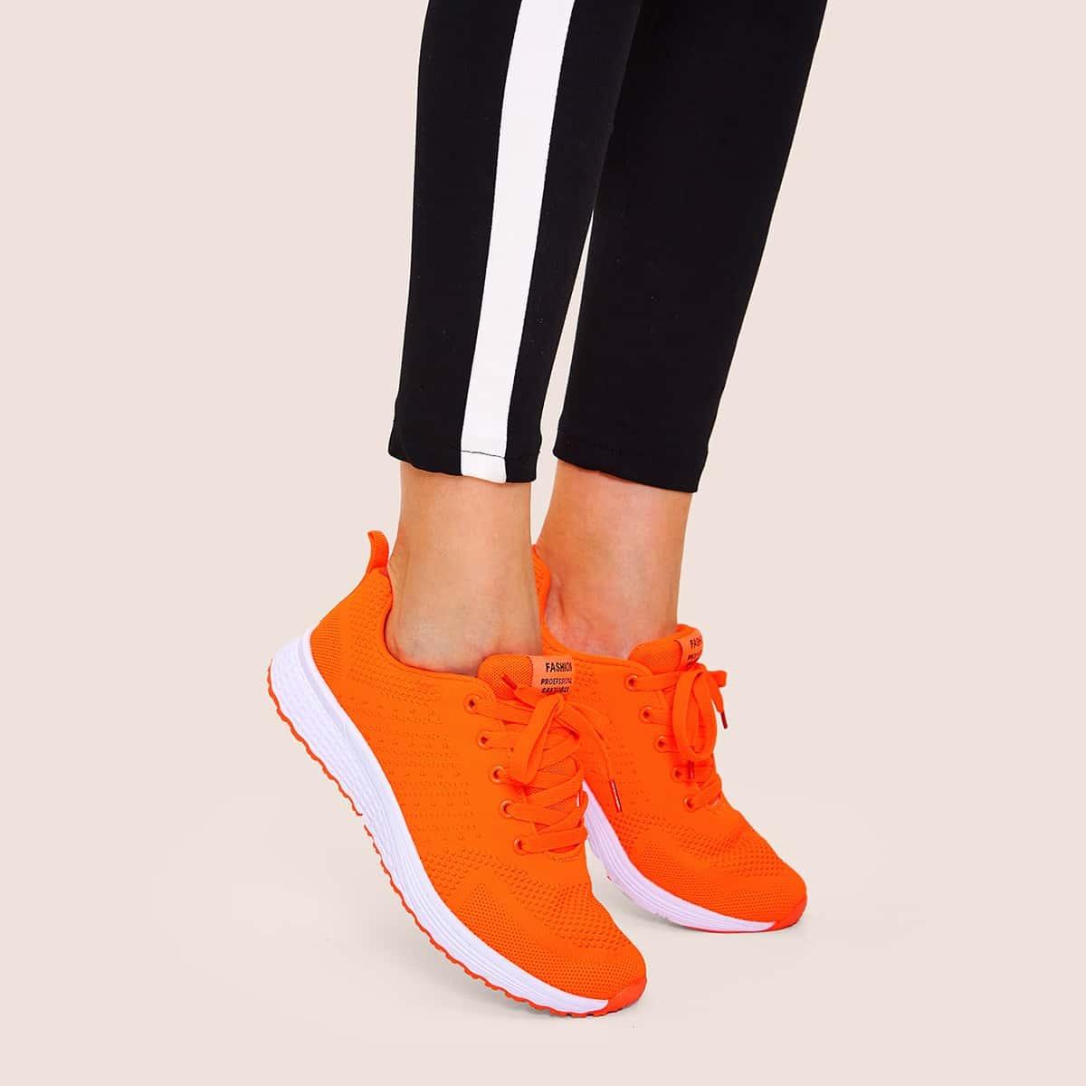 Oranje Comfortabel sneakers Kant