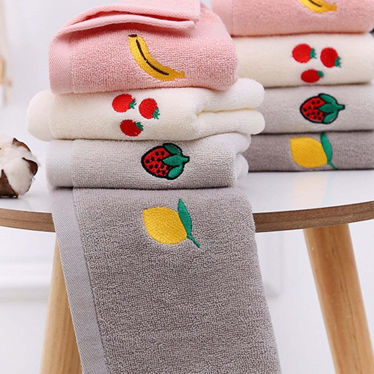 Fruit geborduurde absorberende handdoek 1 st
