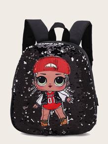 Backpack | Sequin | Figure | Decor | Print | Girl