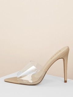Pointy Sole Transparent Band High Heels