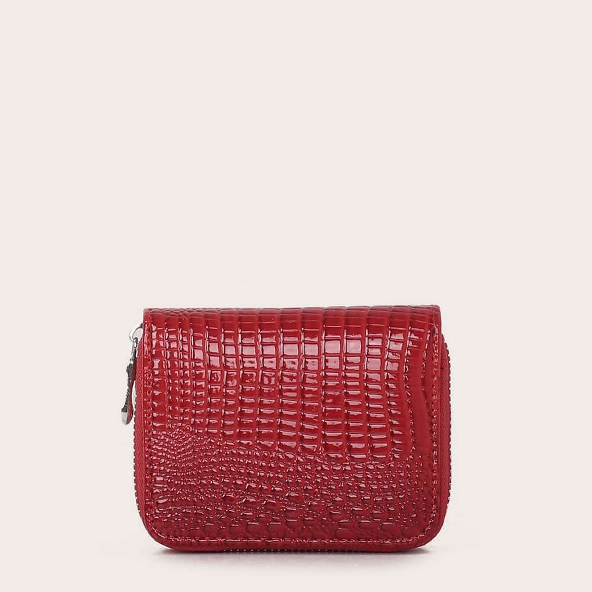 Croc Embossed Zip Around Purse (swbag03190724030) photo
