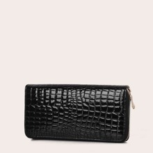 Croc Embossed Zip Around Purse (swbag03190724377) photo