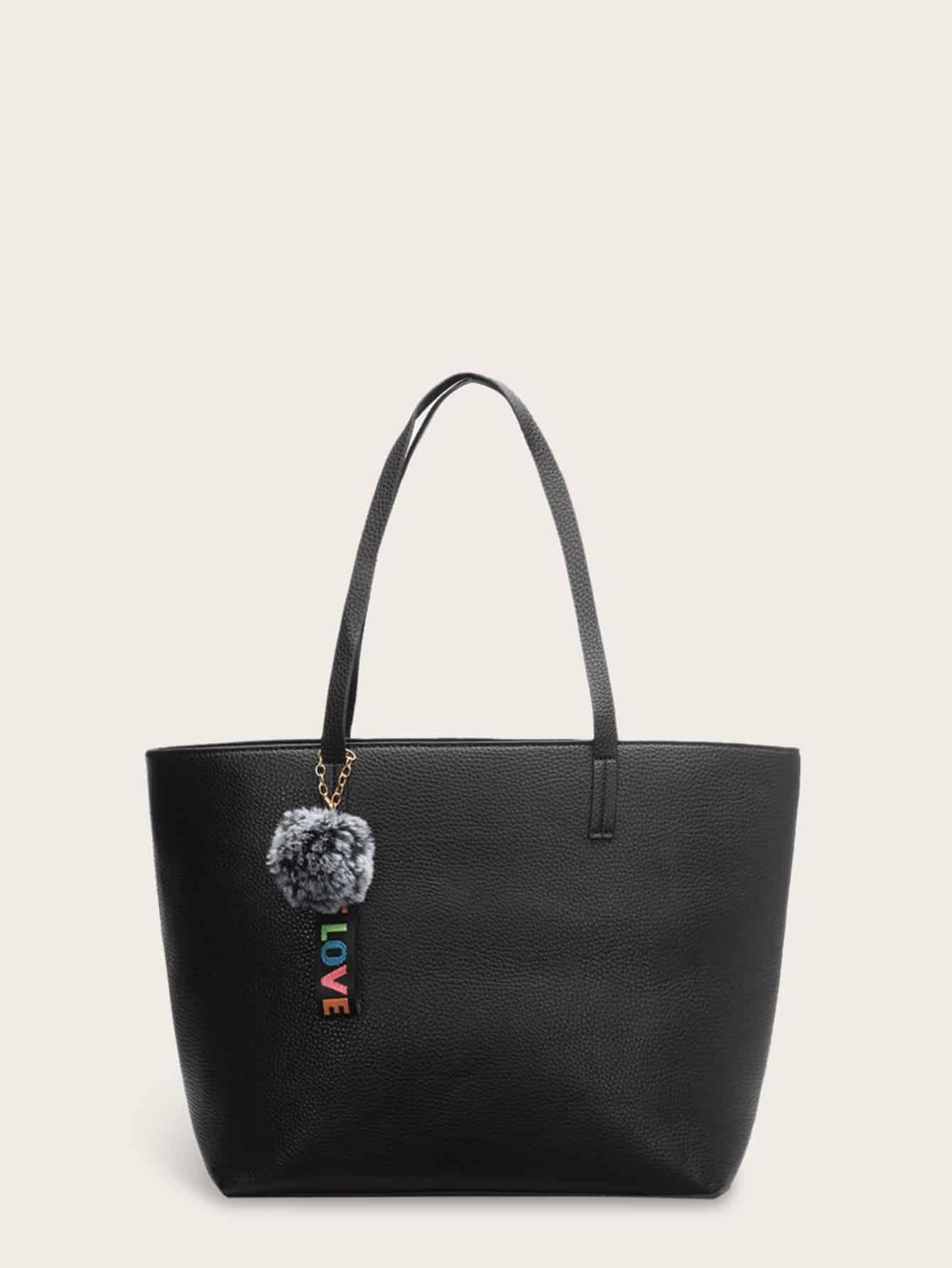 Большая сумка с помпоном