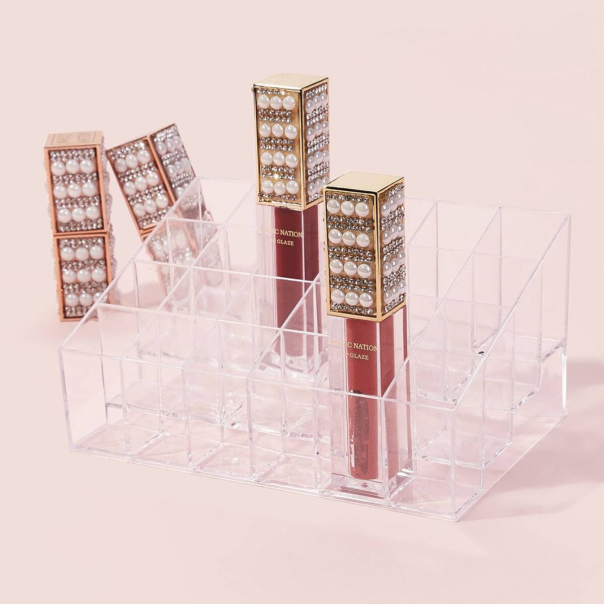 Transparante 24 Grid Lipstick opbergdoos 1 st