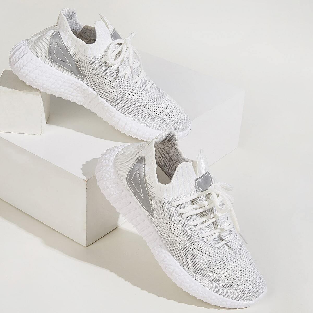 Кроссовки на платформе и шнурками от SHEIN