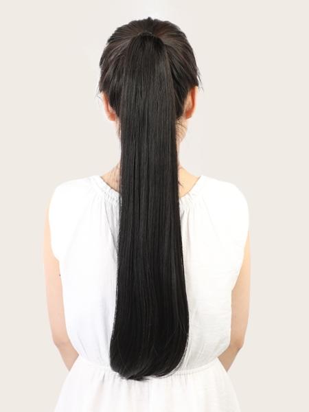 Natural Long Straight Ponytail Hair