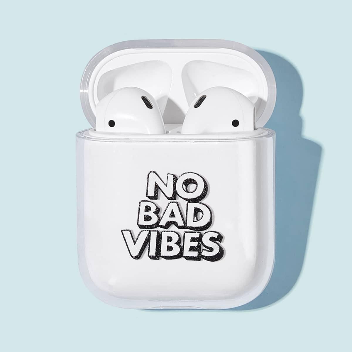 Slogan patroon Airpods Box Protector