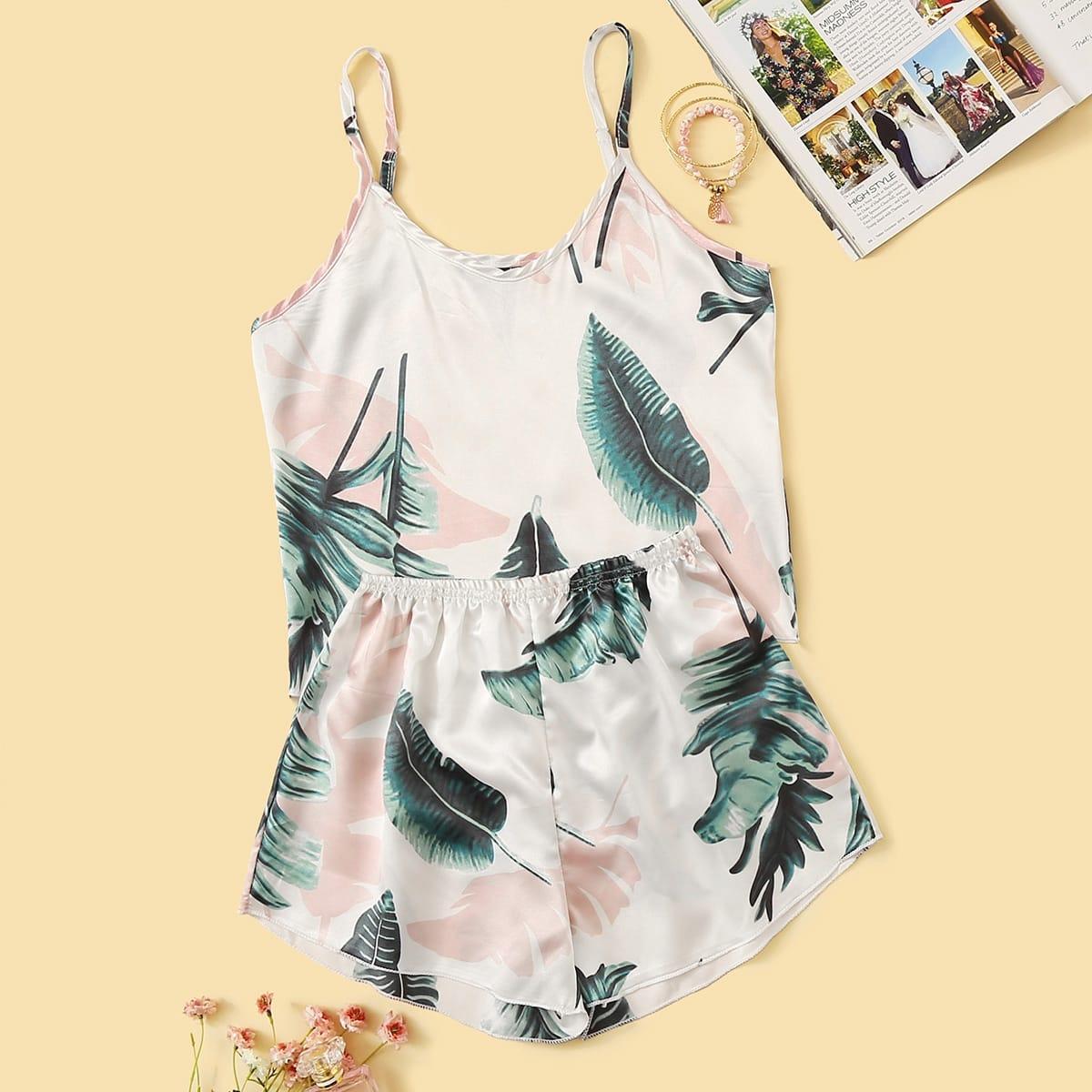 Veel kleurig Casual Tropisch Lounge kleding