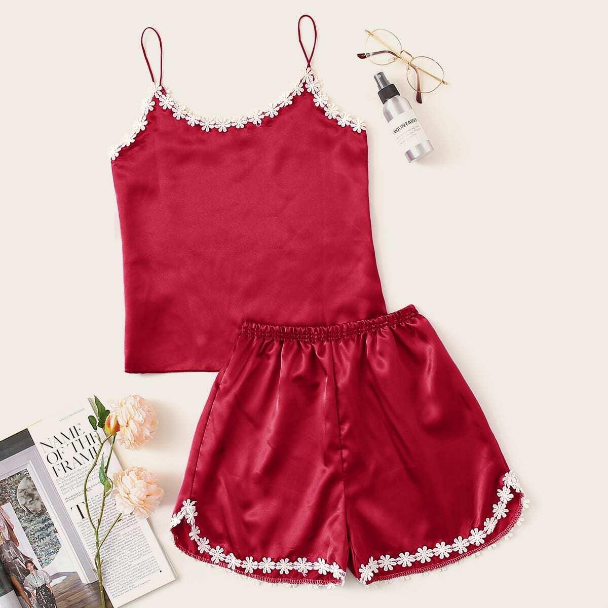 Rood Casual Vlak Lounge kleding