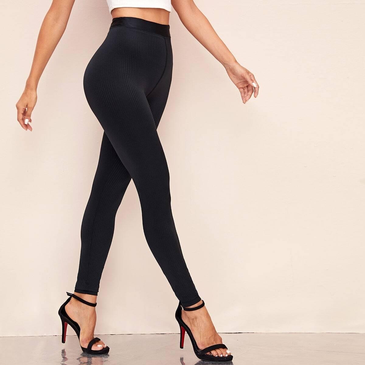 SHEIN / Strick Leggings mit hoher Taille