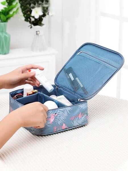 Flamingo Print Cosmetic Storage Bag