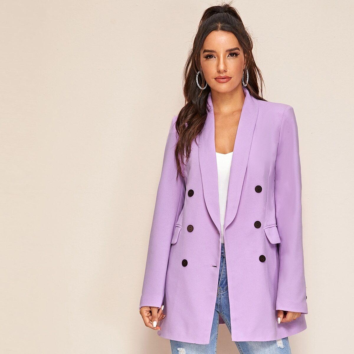 Пиджак на пуговицах с оригинальным воротником