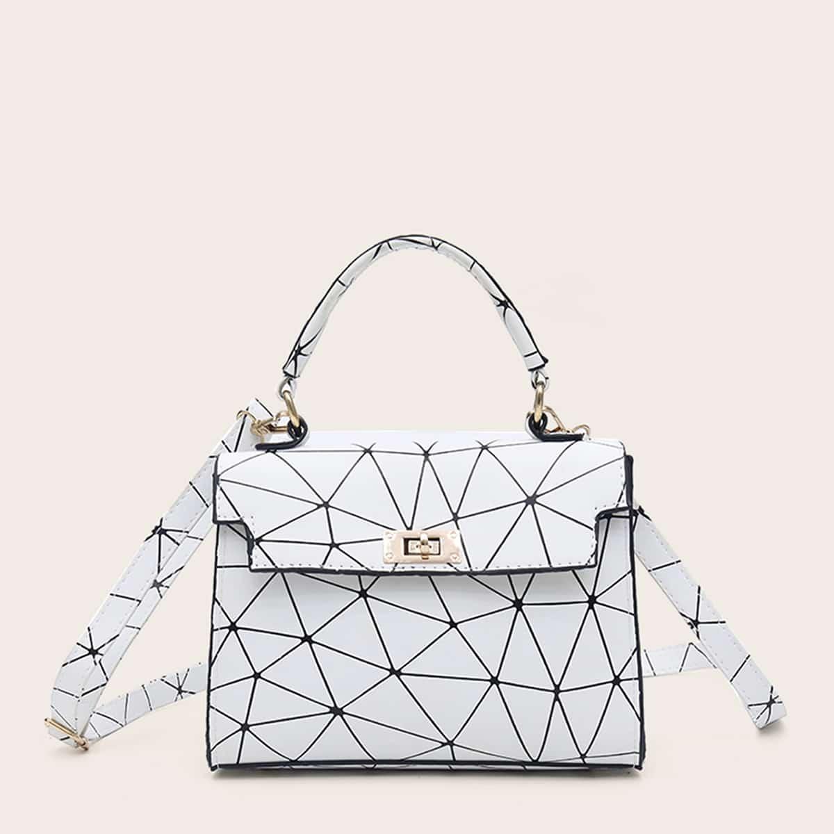 Сумка-портфель с геометрическим принтом от SHEIN