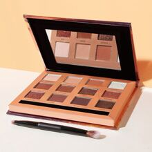 12 Color Shimmer Eyeshadow Palette With Brush