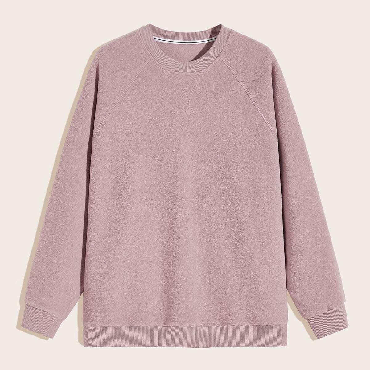 Roze  Casual Vlak Sweatshirts voor heren