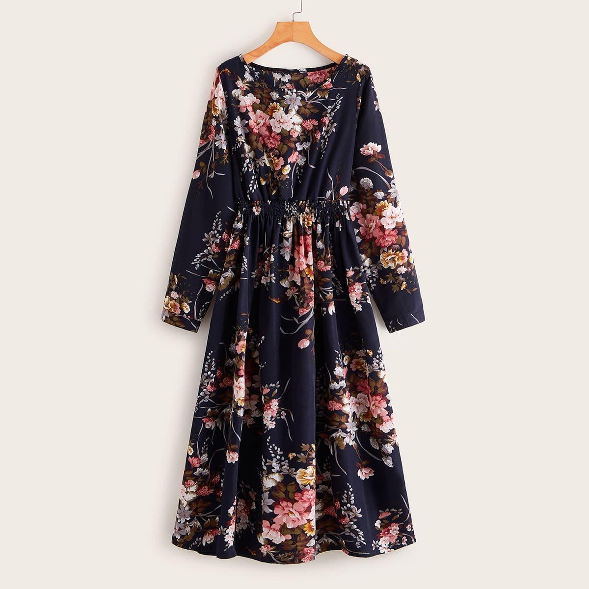 Стильное Платье С Цветочным Принтом Image