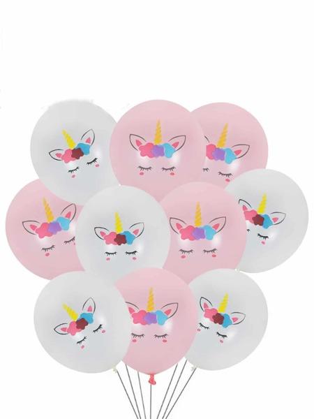 Unicorn Print Decorative Balloon 10pcs