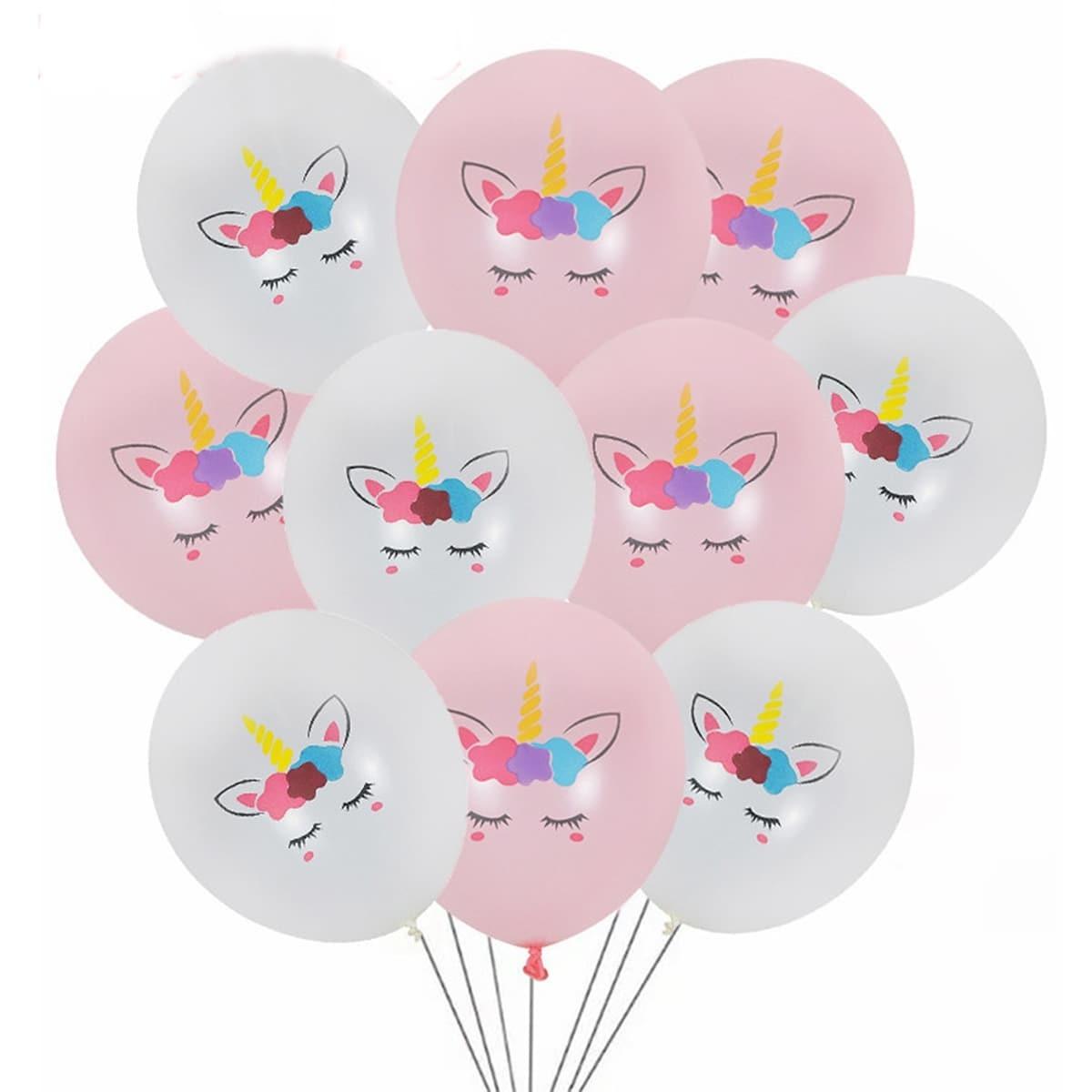 Unicorn Print Decorative Balloon 10st