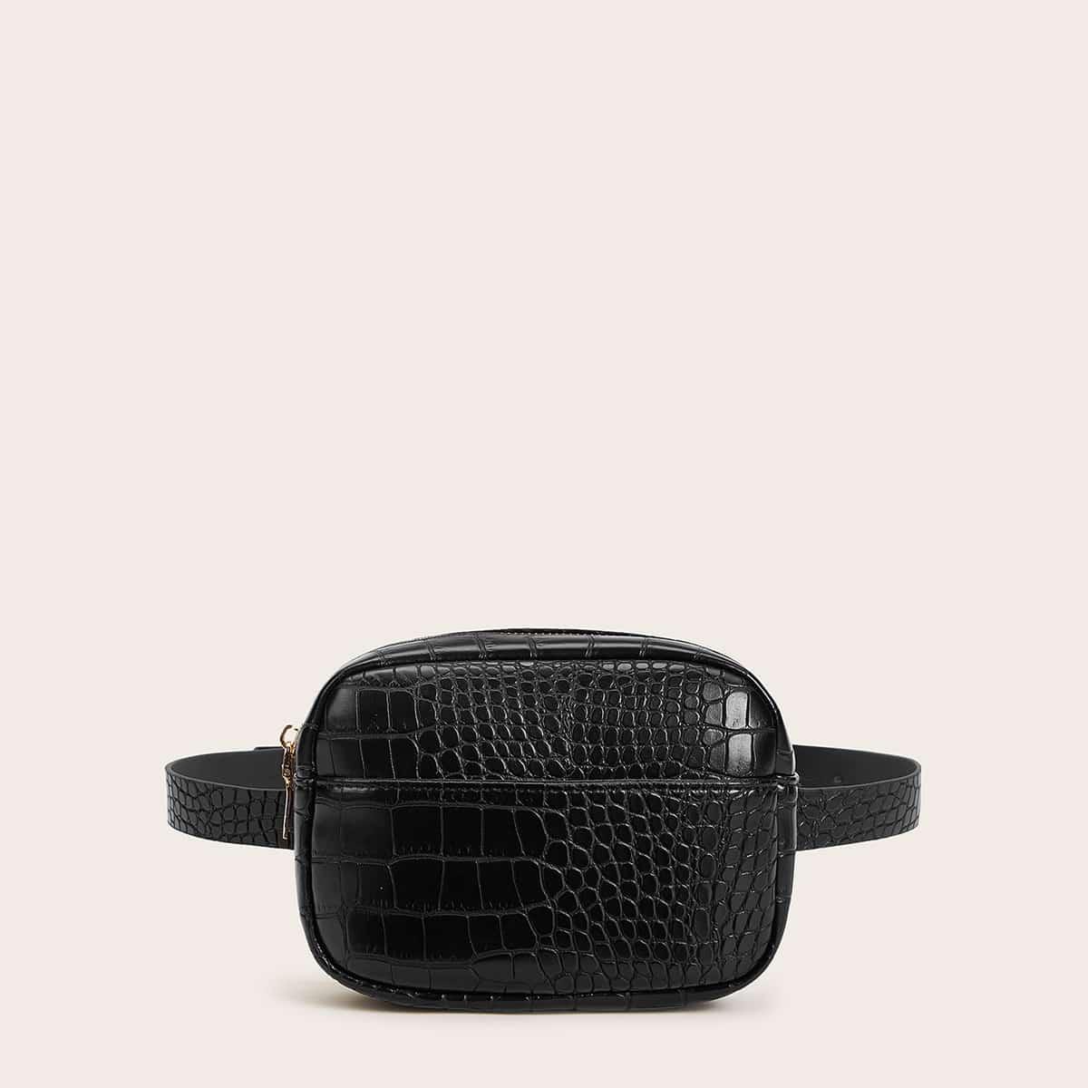 Поясная сумка с тиснением под крокодила от SHEIN