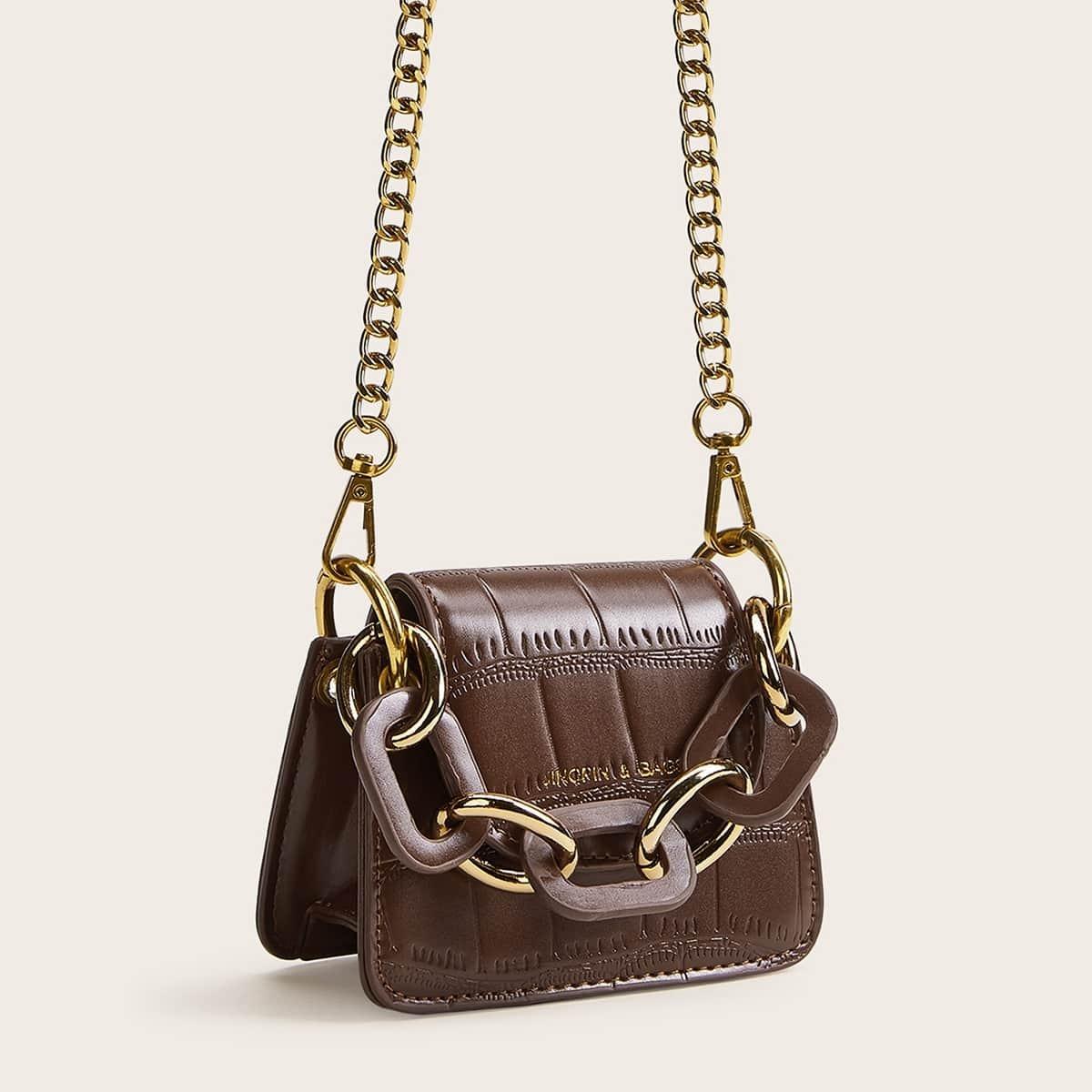 Сумка-портфель с цепочкой от SHEIN