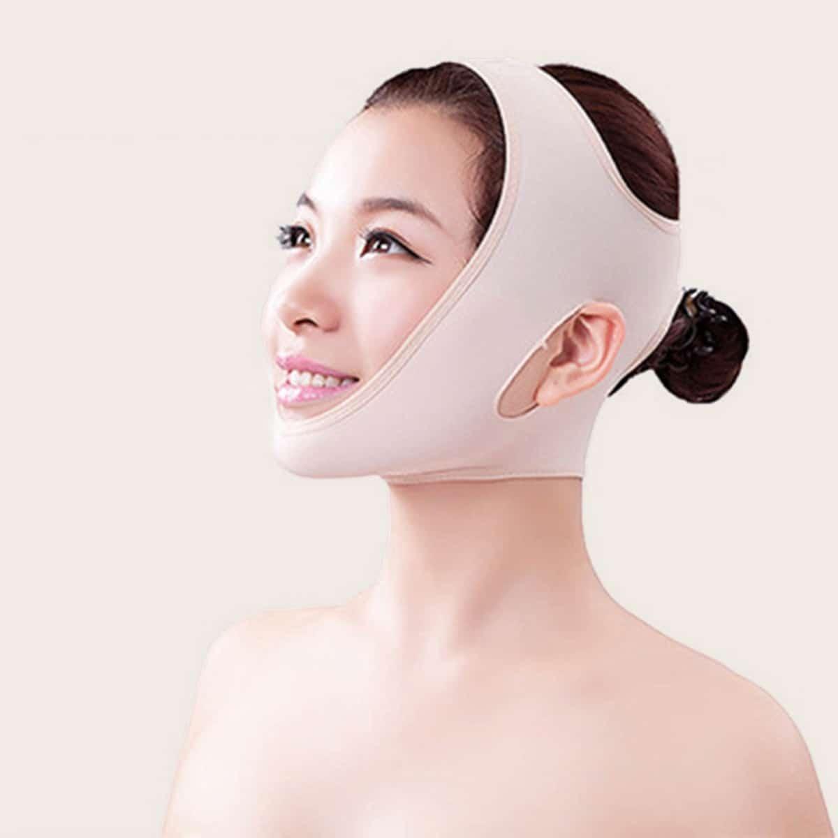 Verstevigend masker met dubbele kin 1 st