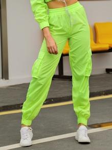 Double   Cargo   Green   Neon   Pant