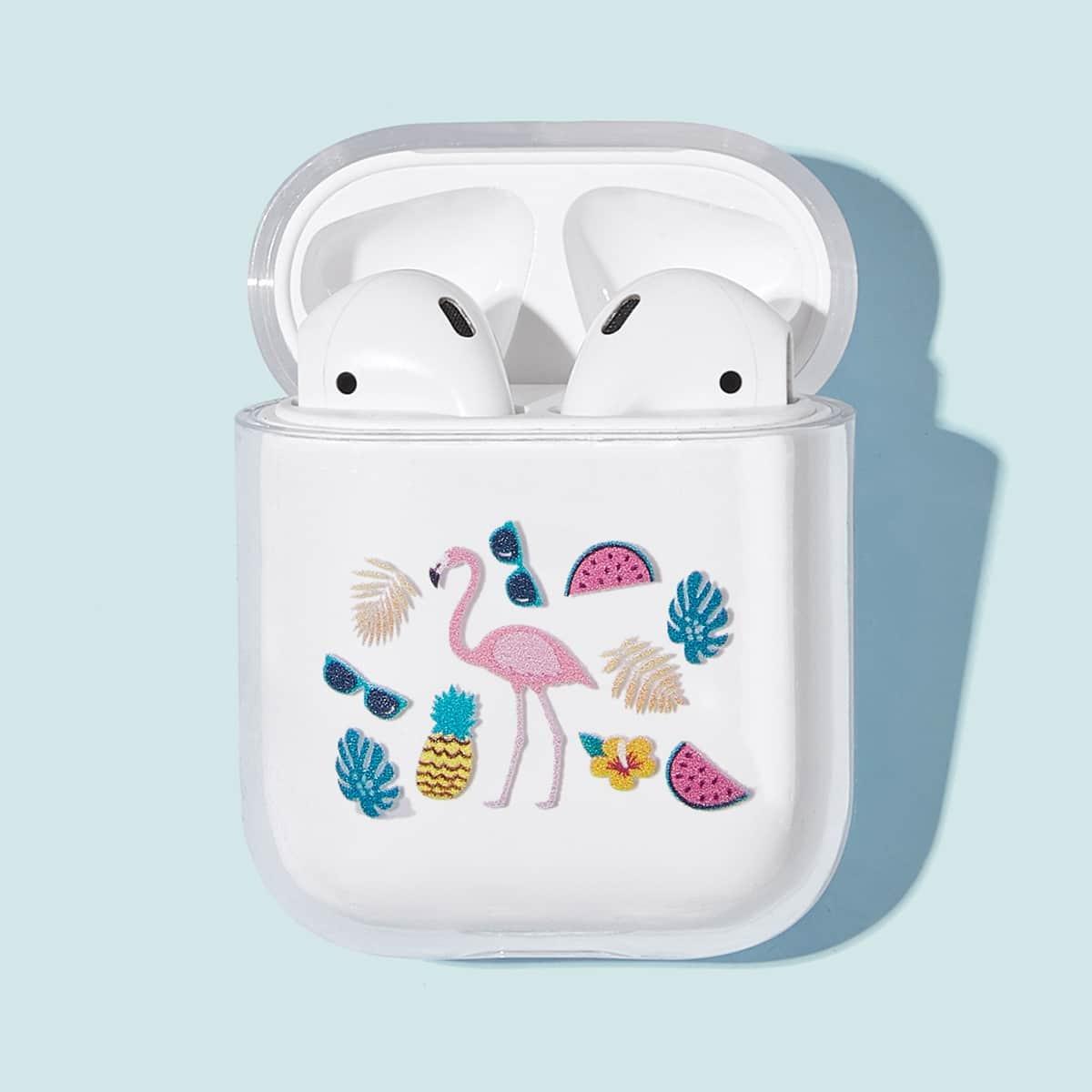 Flamingo's en ananaspatroon Airpods Box Protector