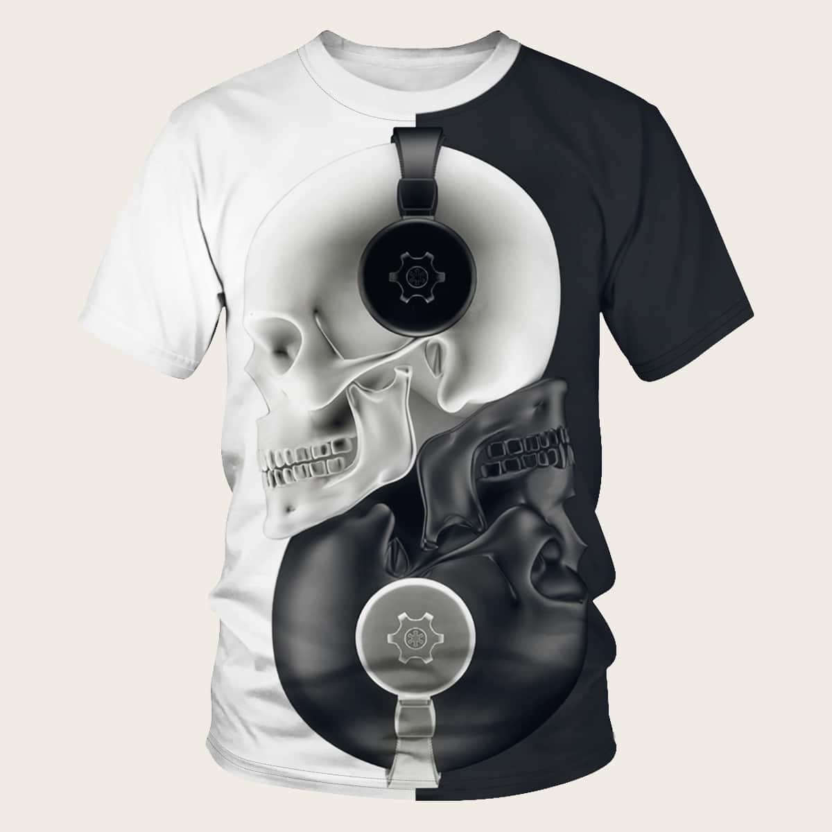 Zwart & wit Casual Shirts mannen