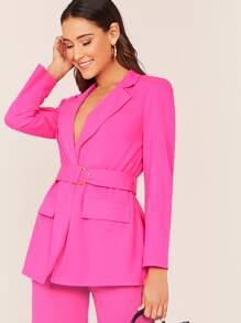 Blazer   Collar   Neon   Pink   Belt